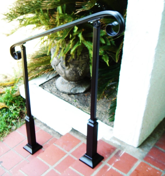 4 ft wrought iron handrail step rail stair rail by