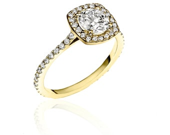 Almost Eternity Yellow Gold & Diamond Ring