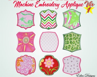 Applique Shapes Version 1 Machine Embroidery Designs Digitial Download