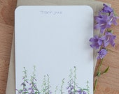 Personalized Stationary Set, Field of Flowers Stationery Cards