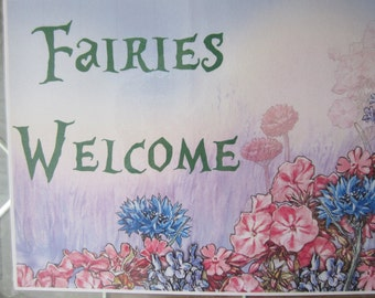 Woodland Fairy Welcome Sign