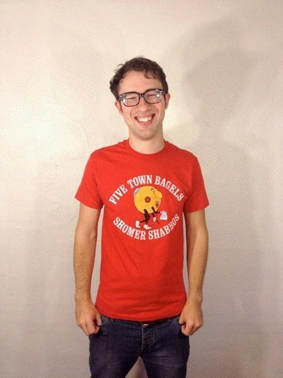 Five Town Bagels Shomer Shabbos T Shirt M 80s
