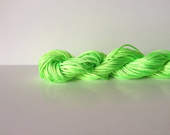 1 Skein of 1mm Neon Green Nylon Chinese Knotting Cord for Macrame