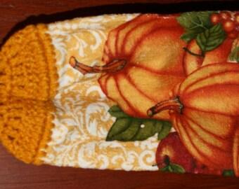 Pumpkin Duo Crochet Top Towel