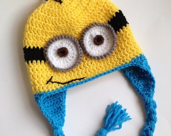 Minion Hat - Crochet Hat - Minion - Crochet Minion Hat - Hat - Character Hat - Photo Prop - Despicable Me Hat