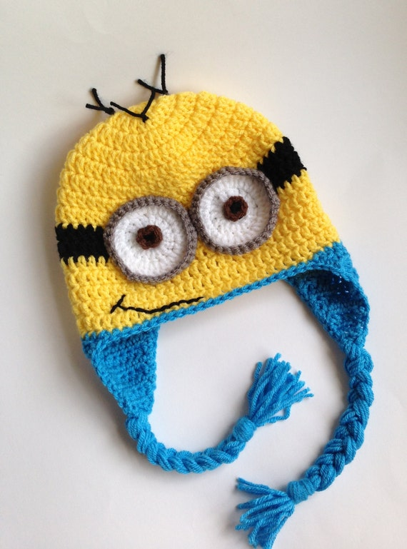 Free Crochet Pattern For Minion Hat And Overalls : Minion Hat Crochet Hat Minion Crochet Minion Hat Hat