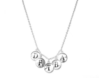 Silver-plated DFTBA Charm Necklace