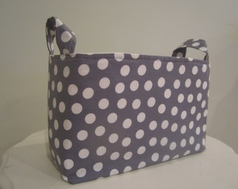 Small Fabric Bin - Diaper caddy - Nursery Decor - Dorm Organization