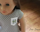 Embroidered Pocket T-Shirt - American Girl Doll Clothes
