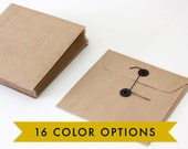 120 Pack // 6x6 Size // FREE U.S. SHIPPING // 16 Color Choice String Tie Envelopes