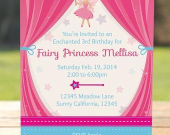 Fairy Princess Invitation - Fairy Princess Birthday Party Invitation