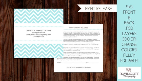 Items Similar To Photo Print Release Form Template - Photography