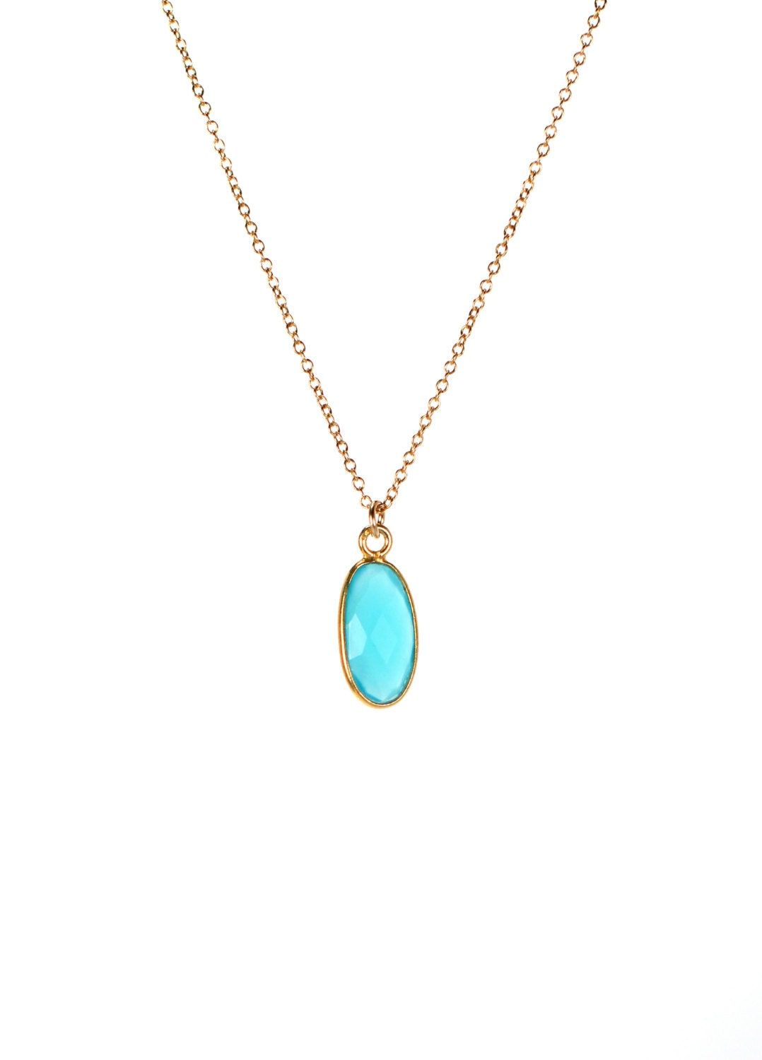 chalcedony necklace blue chalcedony sky blue by buburuby