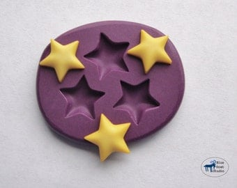 Small Star Trio Mold/Mould - Silicone Mold - Polymer Clay Resin Fondant