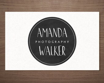 Premade Logo Design for Photographers - Chalkboard Emblem - Photography Boutique Wedding Small Business