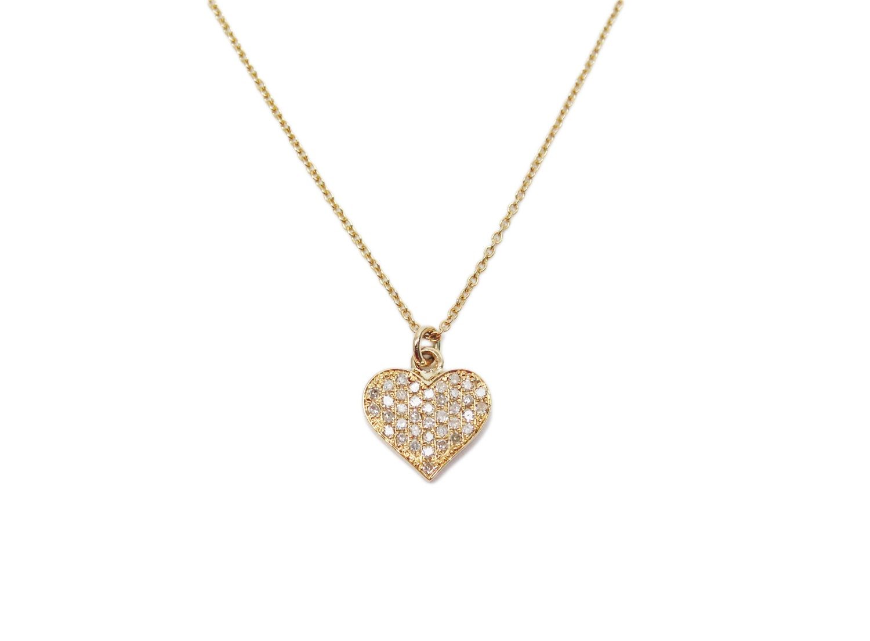 yellow diamond heart necklace - photo #23
