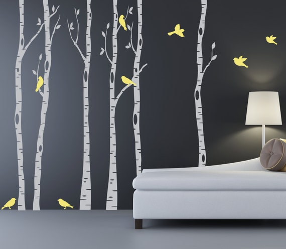 Birch Tree Wall Decal Set of Six by StudioWallDecals