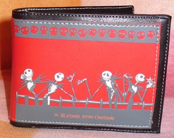 Wallet for man of Tim Burton's The Nightmare Before Christmas