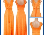 Bold Tangerine Maxi Dress
