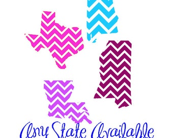 Chevron State Decals (Various Sizes)