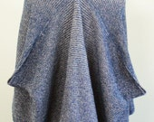SALE Handmade Indigo Blue & Natural Cream Cardigan Cape Wrap