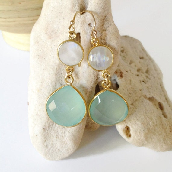 Bridesmaid Gifts Beach Wedding: Aqua Bridesmaid Earrings Beach Wedding Jewelry Beach By