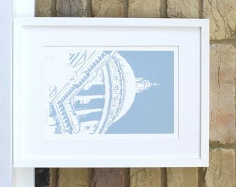 St Pauls Cathedral print London artwork London screen print Iconic buliding