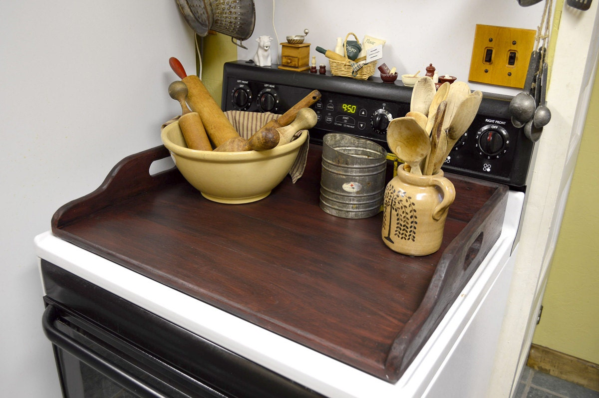 Primitive noodle board stove top cover by bishopshollow on etsy