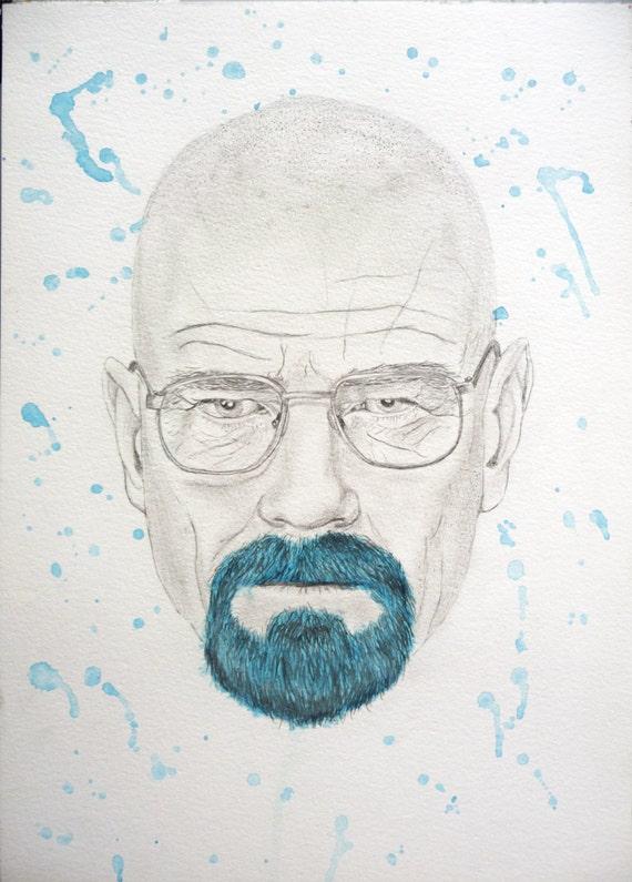 Original BREAKING BAD Heisenberg by NaomisKickAssArt on Etsy