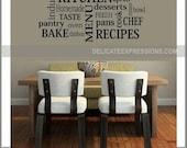 Kitchen Wall Decal, Kitchen Decor, Kitchen Subway Wall Decal, Kitchen Art, Kitchen Sign, Kitchen Wall Decor, Kitchen Subway Art