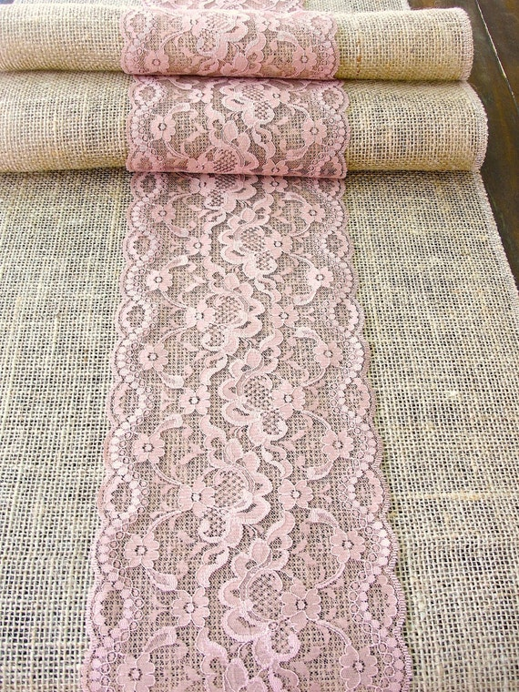 Unavailable listing on etsy - Chemin de table rose pale ...