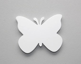 50 White Butterfly Die Cuts, Paper Butterflies, Confetti,  Butterfly Baby Shower Decoration, Butterfly Birthday Party, DIY Tags, Garland