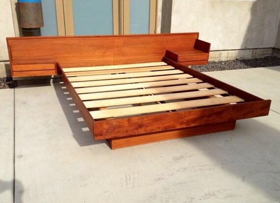 Reserved Mid Century Danish Teak Queen Platform Bed With