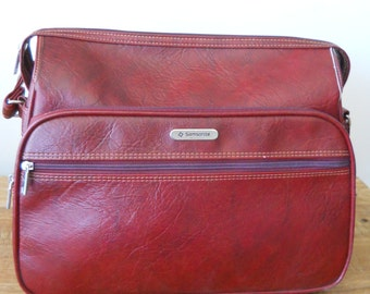 Vintage Oxblood  Samsonite Silhouette II Weekend Bag