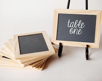 5x7 Chalkboards, Set of 10,  Natural Wood Frame for Weddings, Wedding Decor, Chalk Boards