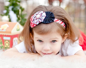 Christmas Headband, Santa Headband, Holiday Headband, Holiday Photos, Newborn Headband, Baby Gift, Shower Gift, Photo Prop