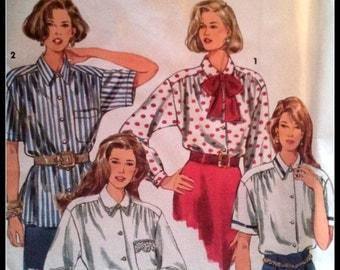 Simplicity  8558  Misses' Shirt And Tie  Size  (18-22) Uncut