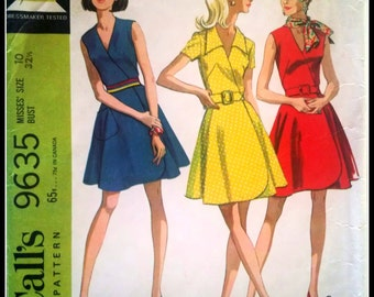 McCall's 9635  Misses' Dress in three Versions and Scarf  Size 10