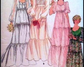 "Butterick 5938  Misses' Bridal Gown  Bust 34"""