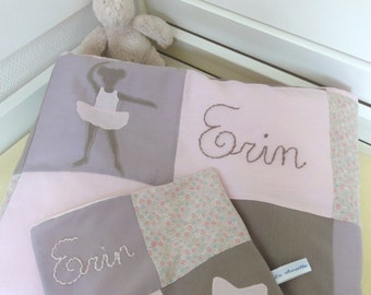 Cover baby patchwork with embroidered name