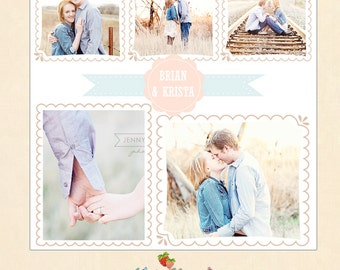 INSTANT DOWNLOAD 20 x 20 Collage & Blog Board, Storyboard Photoshop templates - BL068