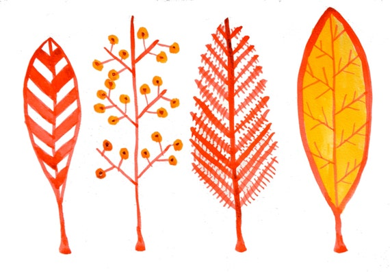 Fall Illustrations Fall Leaf Illustration 8.5
