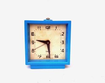 Vintage alarm clock Sevani retro clock soviet metal clock mid century mechanical clock Russian alarm clock Christmas home decor