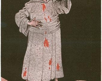 "Louis Raemaekers WWI Cartoon : ""To Your Health, Civilization"" (c1916) - Giclee Fine Art Print"