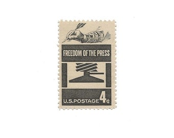 Set of 10  /////  1958 Vintage US Air Mail Stamps Ready to Use