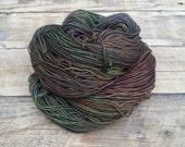 Mystical Moss - Hand Dyed Yarn - Fingering Sock Lace - Superwash Merino Wool Silk