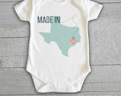 Baby Onesie - Made In...Texas Georgia Alabama  Personalized Customized