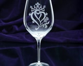 Luckenbooth, Scottish Wedding Gift, Traditional Scottish Symbol of Love, Hand Engraved Crystal Glasses, set with Swarovski Crystals
