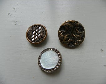 Brass and Silver Tone Buttons