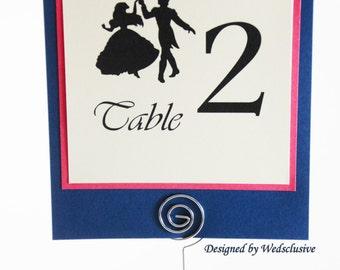 Little Mermaid Table Numbers- Ariel and Eric, Disney weddings, Fairytale Weddings, Princess Weddings, 5x5 - Set of 10